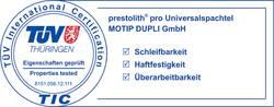 Prüfzeichen TÜV Thüringen