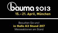 Einladung bauma 2013