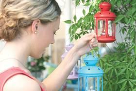 Décoration colorée pour le jardin